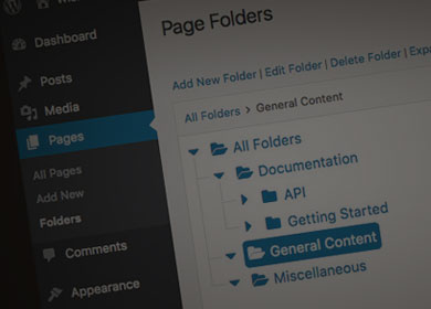 Partial screenshot of Wicked Folders plugin